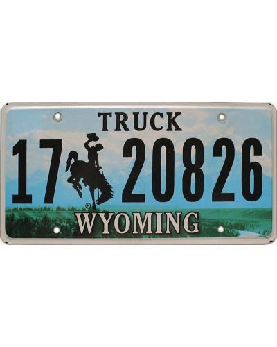 Americká SPZ Wyoming Grand Tetons Truck