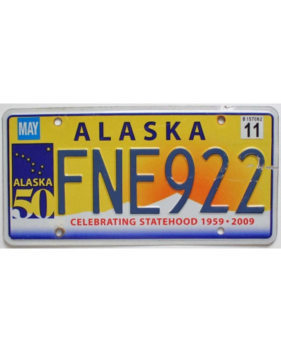 Americká SPZ Alaska Celebrating Statehood