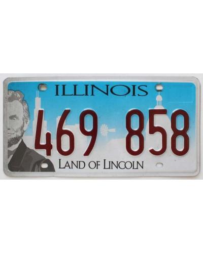 Americká SPZ Illinois Chicago Skyline