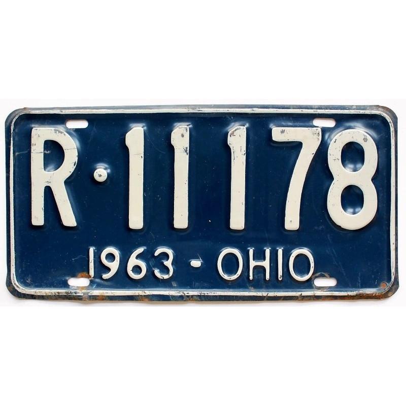 Americká SPZ Ohio Blue 1963