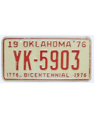 Americká SPZ Oklahoma Bicentennial 1976