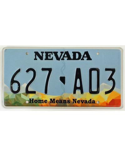 Americká SPZ Nevada Home Means