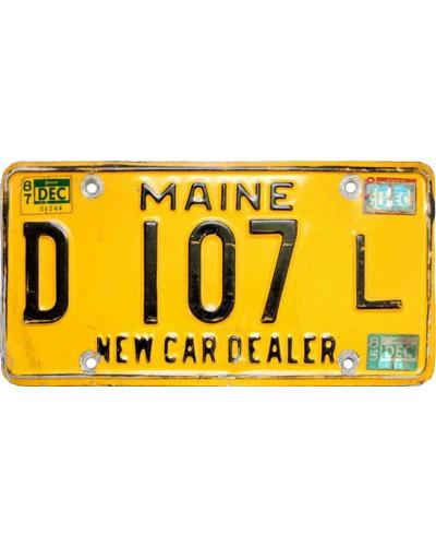 Americká SPZ Maine Yellow D 107