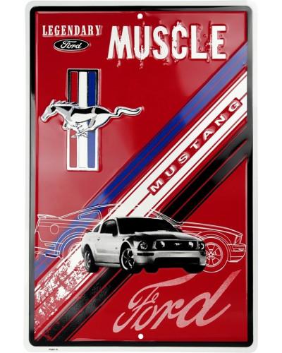 Plechová cedule Ford Mustang Legendary Muscle 30 cm x 45 cm