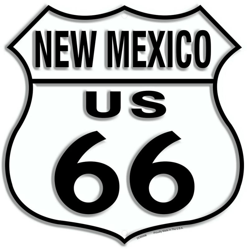 Plechová cedule Route 66 New Mexico Shield 30cm x 30cm