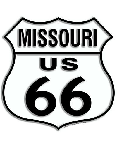 Plechová cedule Route 66 Missouri Shield 30cm x 30cm