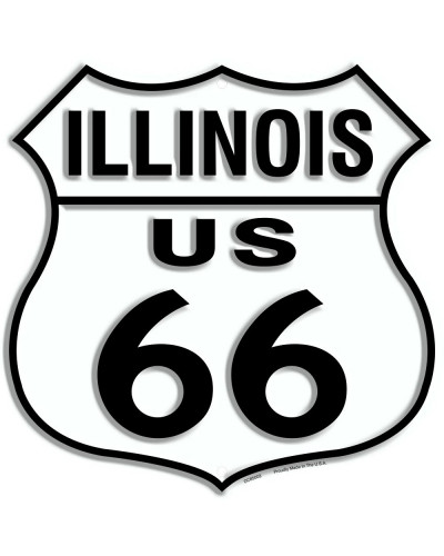Plechová cedule Route 66 Illinois Shield 30cm x 30cm n