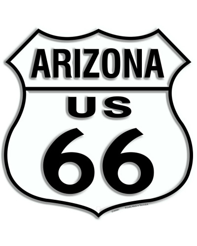 Plechová cedule Route 66 Arizona Shield 30cm x 30cm n