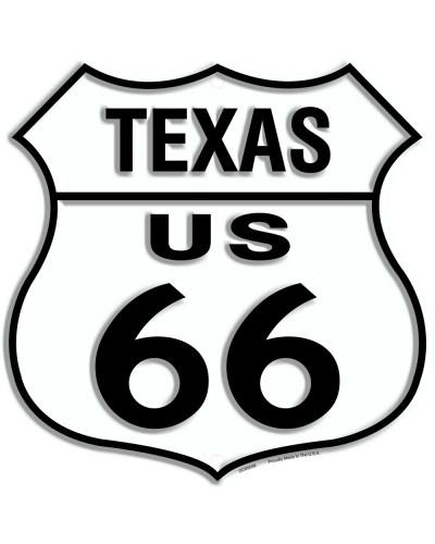 Plechová cedule Route 66 Texas Shield 30cm x 30 cm n