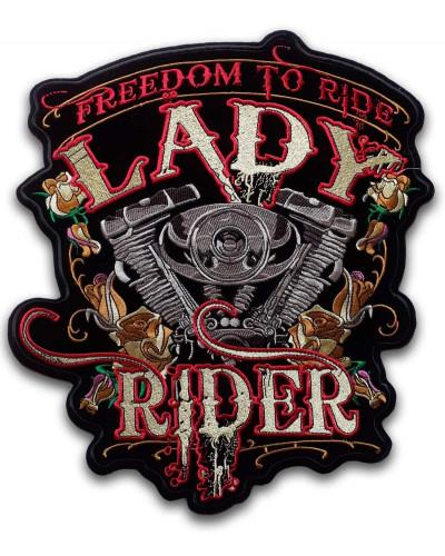 Moto nášivka BS Lady Rider XXL na záda