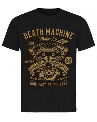 Pánské tričko Death Machine Shovelhead černé