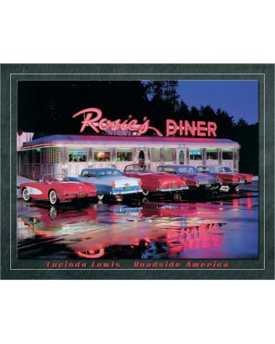 Plechová cedule Lewis- Rosies Diner 32 cm x 40 cm