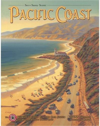 Plechová cedule Pacific Coast 32cm x 40 cm