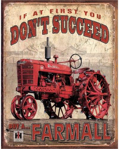 Plechová cedule Farmall Succeed 40 cm x 32 cm
