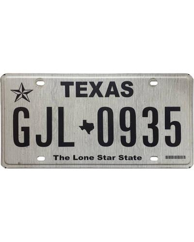 Americká SPZ Texas Black Star