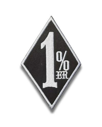 Moto nášivka 1 percenter black 10cm x 6cm