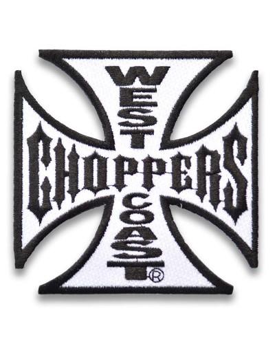 moto nášivka West Coast Choppers White 10cm x 10cm