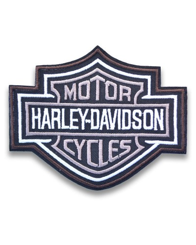 Moto nášivka Harley Davidson Bar and Shield BW 10cm x 8cm