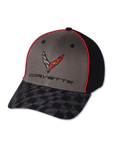Kšiltovka Corvette C7 Next Generation Carbon Flash Checkers