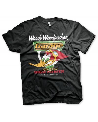 Pánské tričko Woody Woodpecker Garage černé