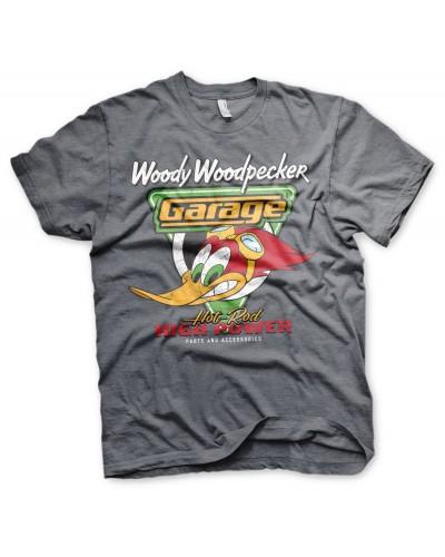 Pánské tričko Woody Woodpecker Garage šedé
